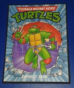 """1990 *** """"RAPHAEL'S ROOM"""" DOOR PLAQUE ** 14 x 10 cm TEENAGE MUTANT NINJA TURTLES"""