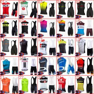 Summer Men Cycling jersey set breathable sleeveless bike shirt bib shorts suit