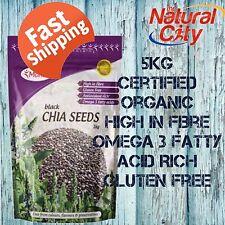 Australian Certified Organic Chia Seeds Black 5kg(1kg x 5) Morlife-Trusted Brand