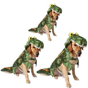 Halloween Xmas Crocodile Dog Costume Small Large Dog Clothes Dog Party Dress