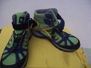 Kastinger hellgrün-gelb-blaue Sneaker leichte Wanderschuhe Gr. 40