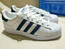 ADIDAS SUPERSTAR SHOES TRAINERS SNEAKERS WHITE BLUE BZ0190 UK 4 & UK 6 - RRP £80
