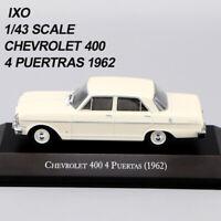 1/43 IXO CHEVROLET 400 4 PUERTAS 1962 Weiß Die Cast Car Modell