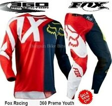 Fox NIrV Youth Motocross Pants 2017 #28 Red Blue Kids BMX MX Dirt Bike