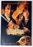 Harry Potter UND DIE KAMMER DES SCHRECKENS original Presseheft 2002