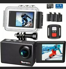 Napasa Action Camera 4K Ultra HD WiFi Sports Camera Underwater Wide Angle 170° w