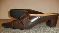 "Etienne Aigner Womans Mary Jane Shoes, sz 6M, Mule Heel, Bicycle Toe, 1.5"" Heels"