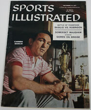 Carmen Basilio 1957 Sports Illustrated No Label 9/16/57 Ex 15478