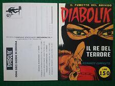 Cartolina Card DIABOLIK - IL RE DEL TERRORE n.1 , Promocard n 58/911 (1998)