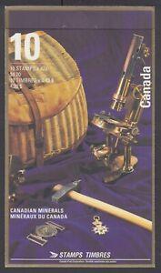 CANADA BOOKLET BK147a 42c x 10 CANADIAN MINERALS, GLUED FLAP