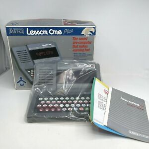 Vintage 1989 Vtech Lesson One Plus Electronic Computer Video Game Console