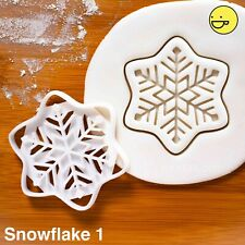 Snowflake cookie cutter (Style 1) | Christmas winter festive xmas biscuit frozen