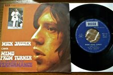 """MICK JAGGER Memo from Turner 7"""" 45 Italy OST Performance Rolling Stones"""