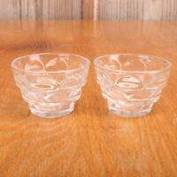 Clear Glass Cup Votive Candle Holders Arch Pattern