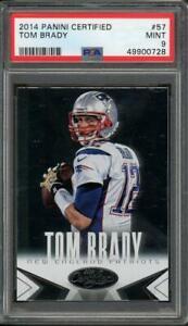 2014 Panini Certified Tom Brady PSA 9 Mint #57