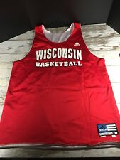 WISCONSIN Badgers Player Worn Used Basketball Jersey Fanatics Authentic 2 sided