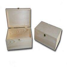 Plain Wood - Wooden Jewellery/Treasure Box, Keepsake Memory Case to paint