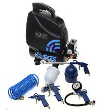 SGS 6 Litre Oil-less Air Compressor & Tool Kit - 5.7 CFM 1.5 HP
