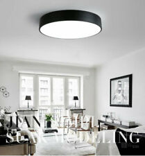 D8 Round Black LED Ceiling Light Acrylic Livingroom Bedroom Lighting Fixture