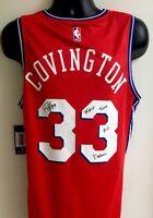 Robert Covington Philadelphia 76ers Autographed Signed Fanatics Jersey COA W/Ins