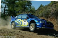 "Petter Solberg World Rally Champion 03 SUBARU IMPREZA HAND SIGNED PHOTO 12x8"" BN"