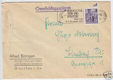 Bedarfspost, Mi.-Nr. DDR 438 EF, Zuckerwarenfabrik Glauchau, o Glauchau, 1956