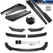 Universal Carbon Fiber Look Front Bumper Spoiler Body Kitside Skirt Rear Lip Fits Toyota Yaris