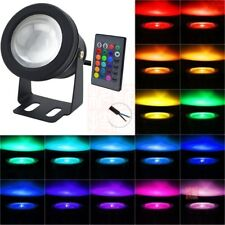 2x Waterproof 10W RGB LED Outdoor 16 Color Changing Flood Light Garden Lamp
