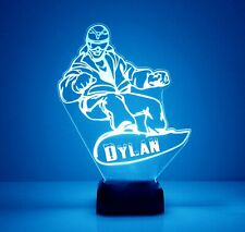 Snowboard Lamp, LED Night Light - Personalized FREE - 16 Color LED w/ Remote