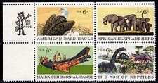 Sc# 1390a 6 Cent Natural History (1970) MNH ZipManBlk/4 UL SCV $1.00  Read