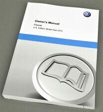 Volkswagen VW Passat, US Owners manual, model 2012