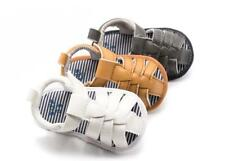 New Arrival Newborn Baby Boy Pram Shoes Faux Leather Infant Summer Sandals 0-12M