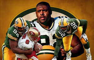 Green Bay Packers Lithograph print of Reggie White 17 x 11