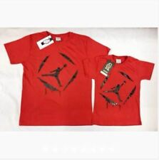 JORDAN FATHER&SON SHIRT S-L (EO) - RED (SMALL Adult Size)