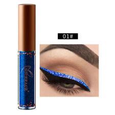 12 Colors Metallic Shiny  Eyes Eyeshadow Waterproof Glitter Liquid Eyeliner NEW