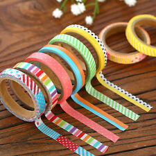 3PCS 5M DIY Washi Adhesive Sticker Tape Paper Sticky Scrapbooking Decor Craft