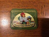 Celestial Seasonings 2012 Collectable Metal Tin Sleepytime Herb Tea Teddy Bear
