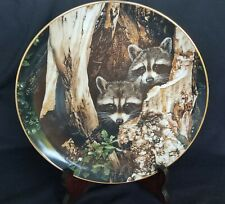 """Hamilton Collection A Curious Pair Natures Quiet Moments collector plate 9 1/2"""""""