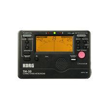 Korg TM-50 Combo Tuner Metronome Chromatic Multi-Instrument Black TM50BK