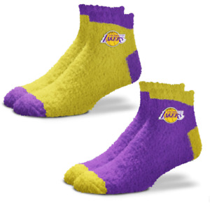 Los Angeles Lakers Purple & Gold 2 Pack Soft Fuzzy Ankle Socks