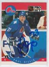 Autographed 90/91 Pro Set Paul Gillis - Nordiques