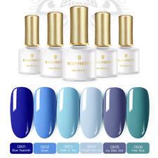 6 pcs/set BORN PRETTY  Blue UV Nail Gel Polish Kit UV LED Lamp