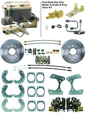 """Ford 9"""" Rear Disc Conversion with Master Cylinder & Proportioning Valve, 4 Discs"""