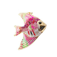 Tropical Fish Rhinestone Keychain Car Keyring Purse Bag Pendant Decoration Hangi