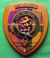 More details for vintage old scottish carved clan scotland culloden tartan plaque crest shield