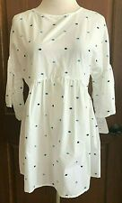 Womens White Short Sleeve Isabel Maternity Top XS