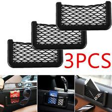 3X Universal Car Seat Side Back Storage Net Bag Phone Holder Pocket Organizer