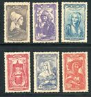 STAMP / TIMBRE FRANCE NEUF SERIE N° 593/598 ** COIFFES REGIONALES COTE 17 €