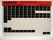 Yamaha XT500 1979 XT500F Dual Purpose Parts List Manual Microfiche n23