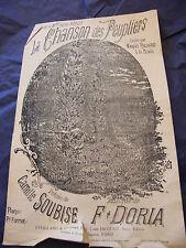 Partition La chanson pioppi Marius Richard Soubise Doria Music Sheet